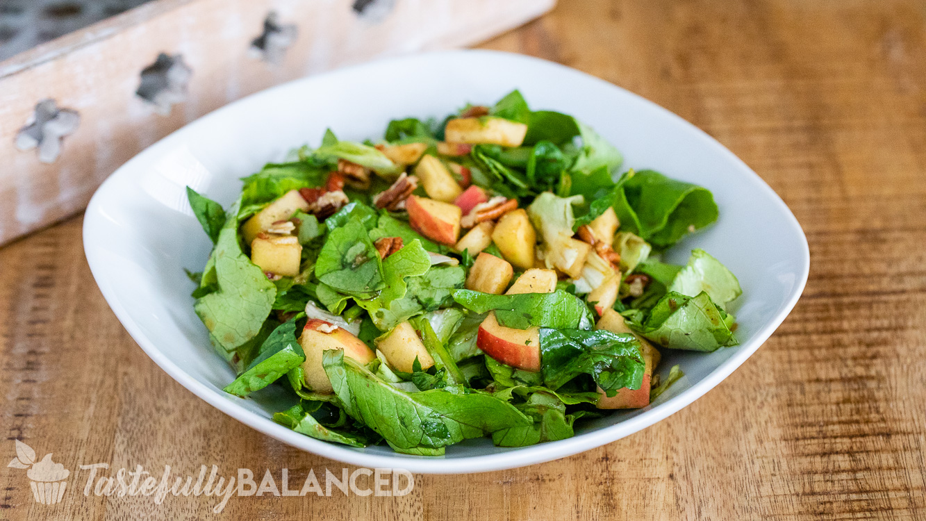 Balsamic Apple Pecan Salad